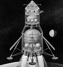 Early Apollo configuration for Direct Ascent and Earth Orbit Rendezvous, 1961