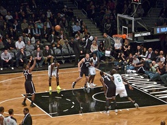 The Brooklyn Nets playing against the Boston Celtics in 2012