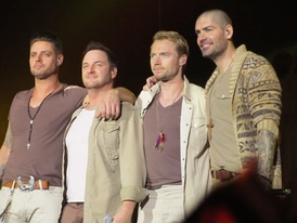 The four surviving Boyzone members during their Brother Tour.