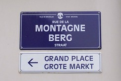Bilingual signs in Brussels