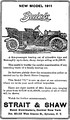 A 1911 Buick Advertisement - Syracuse Post-Standard, January 21, 1911