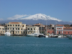 Catania, Sicily, with Mount Etna in the background
