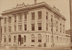 The Toronto Mechanics' Institute in 1884. The institute, whose collection was later absorbed by the Toronto Public Library in 1884, was established in 1830.