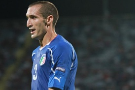 Chiellini with Italian national team in 2011