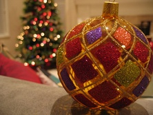 Christmas bauble, or ball ornament