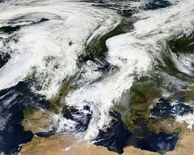 Clouds over Europe in September 2012