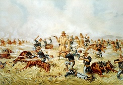 According to the U.S. Bureau of the Census (1894), the Indian Wars of the 19th century cost the lives of about 50,000.[23]