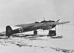 Do 17Z in the Soviet Union, winter 1941-42 showing its sleek, pencil-like, outline.