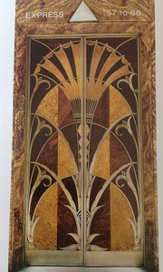 Elevator doors of the Chrysler Building,  by William Van Alen (1927–30)