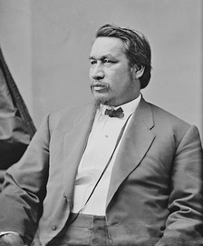Ely S. Parker was a Union Civil War Colonel who wrote the terms of surrender between the United States and the Confederate States of America.[1] Parker was one of two Native Americans to reach the rank of brigadier general during the Civil War.
