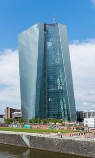 The seat of the European Central Bank in Frankfurt. 19 of the 28 EU member states have adopted the euro as their legal tender.