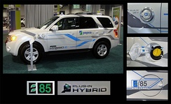 Demonstration Ford Escape E85 flex-fuel plug-in hybrid.