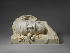 Funerary bust made of Damala by Sarah Bernhardt (1889)