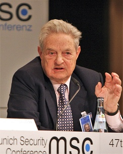 George Soros, fund manager of Quantum Group of Funds