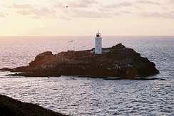 Godrevy Lighthouse at sunset