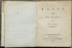 Faust I, first edition, 1808