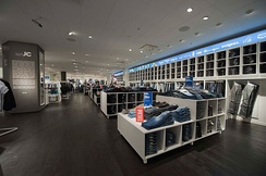 The interior of the JC Jeans and Clothes boutique in Stockholm, Sweden. 2011.