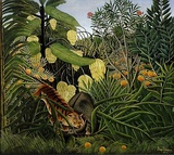 Henri Rousseau, 1908, Fight Between a Tiger and a Buffalo (The Jungle), oil on canvas, 170 × 189.5 cm, Cleveland Museum of Art