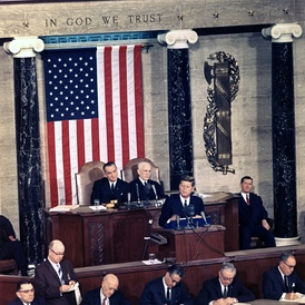 January 14: President Kennedy delivers his third State of the Union address.