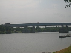 Purple Heart Memorial Bridge over the Red River in Alexandria and Pineville