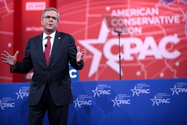 Bush speaking at CPAC in Washington D.C., 2015