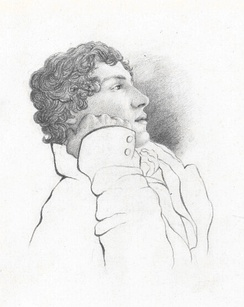 Portrait of John Keats by his friend Charles Brown, 1819