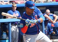 Lagares batting during Spring Training, March 2016