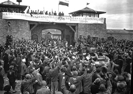 Liberation of the Mauthausen concentration camp by the American forces.