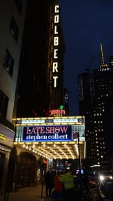 The Ed Sullivan Theater's marquee