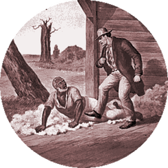 Simon Legree and Uncle Tom: A scene from Uncle Tom's Cabin (1852), history's most famous abolitionist novel