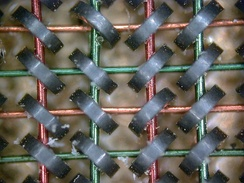 Magnetic core memory was the computer memory of choice throughout the 1960s, until it was replaced by semiconductor memory.