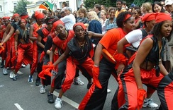 The Notting Hill Carnival is Britain's biggest street festival. Led by members of the British African-Caribbean community, the annual carnival takes place in August and lasts three days.