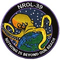 The official mission patch from Launch-39
