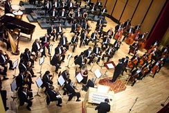 The Jalisco Philharmonic Orchestra.