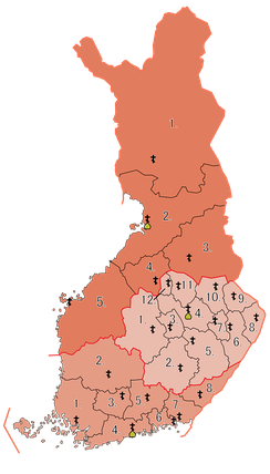 Dioceses and parishes of the Finnish Orthodox Church