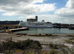 MV Pont-Aven: Brittany Ferries service to Roscoff, France and Santander, Spain in Millbay Docks