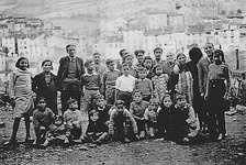 Refugees from the Spanish Civil War at the War Resisters' International children's refuge in the French Pyrenees.