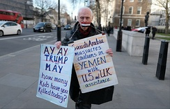 Protest against U.S. involvement in the Saudi Arabian-led intervention in Yemen, March 2018