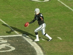 Shane Lechler of the Oakland Raiders punts the ball in November 2008.