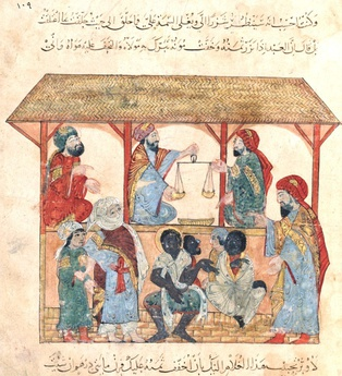 13th-century CE slave market in Yemen.[19]