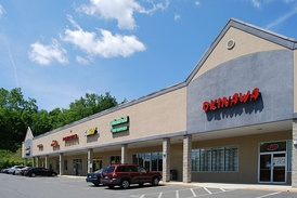 Example of a small strip mall in Wynantskill, New York