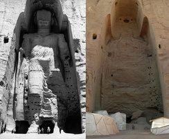 The Buddhas of Bamiyan were destroyed by the Taliban in 2001.