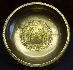Frederick's so-called baptismal cup, silver, partly gilded, Aachen c. 1160