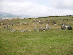 The Braaid in central Isle of Man, with remnants of a Celtic-Norse roundhouse and two longhouses, c. AD 650–950