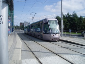 Luas tram in Tallaght