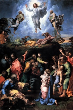 "Raphael's painting The Transfiguration comforts the novel's protagonist; the face of Jesus Christ is able to ""cease the burning torment that consumed the marrow of his bones"".[46]"