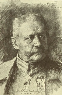 Hindenburg drawn by his friend Hugo Vogel