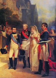 Napoleon demanded that Alexander I of Russia and Frederick William III of Prussia meet him at Tilsit in July 1807.