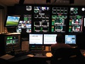 Fox Business Network's Master Control with lights off