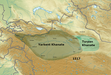 Yarkent and Turpan in 1517